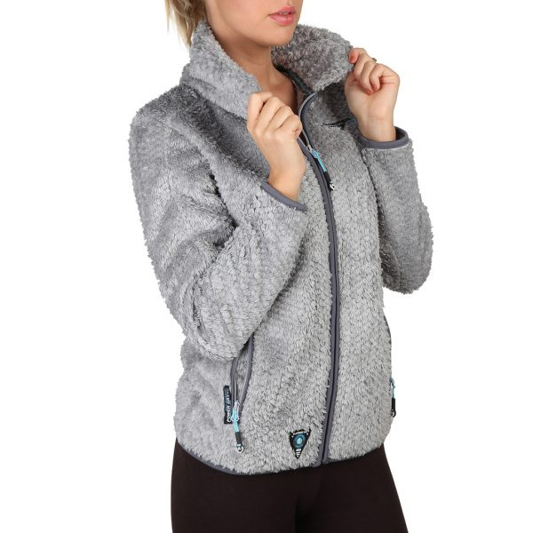 Geographical Norway Zipped Light Grey Sweatshirt Picture1: