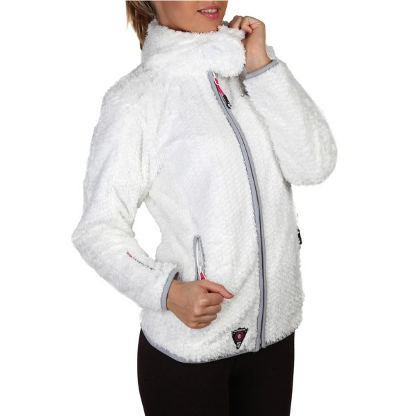 Geographical Norway Zipped White Sweatshirt Picture1: