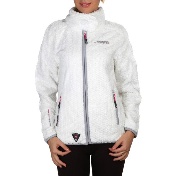 Geographical Norway Zipped White Sweatshirt Picture2: