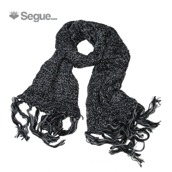 Segue Women's Knitted Black Scarf Picture1: